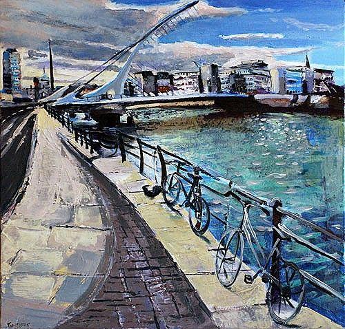#SamuelBeckettBridge from #DublinBridges Series by #TomByrne from #DukeStreetGallery Dublin