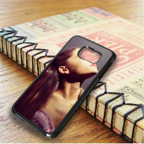 Ariana Grande Beautiful Purple Samsung Galaxy S6 Edge Case