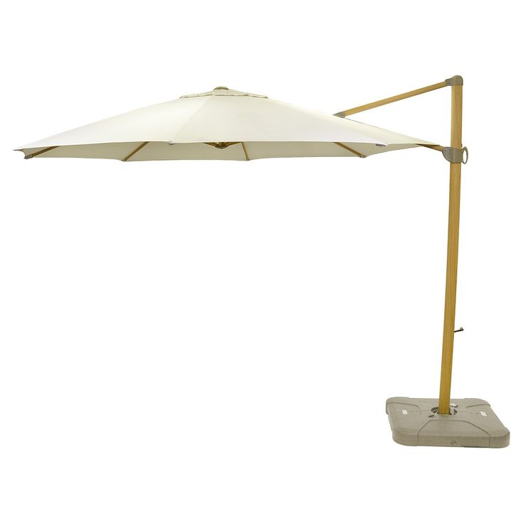 Whether you're relaxing by the pool, enjoying a family meal at the patio dining table or hosting a summer get-together in the front yard, make sure you've got the perfect shade with the Round Offset Patio Umbrella with Base from Smith & Hawken™. Constructed from weather- and UV-resistant aluminum for lasting durability, this cantilever patio umbrella has a stylish faux-wood pole with a Sunbrella fabric shade on top that will keep family and guests cool and protected from ...