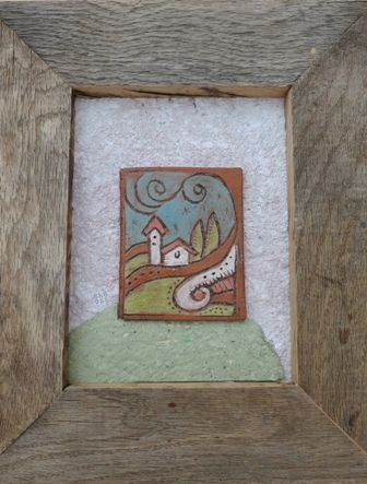 Framed tile of Castle by Bella Odendaal