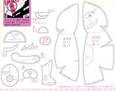 Monokuma (Danga n Ronpa) plush pattern