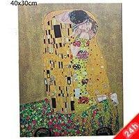 Klimt The Kiss falikép - 40x30 cm