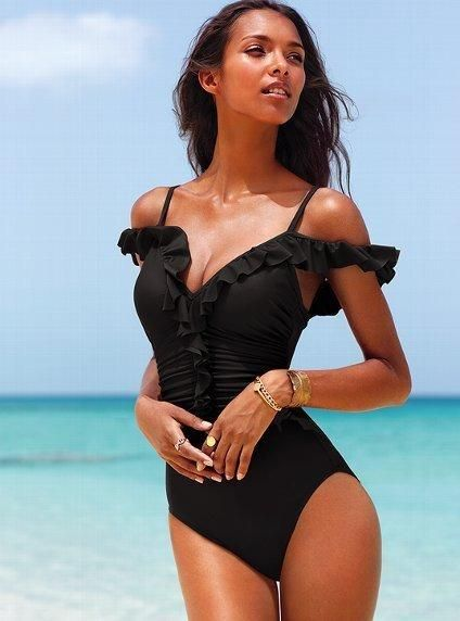 #Magicsuit ruffle one piece #swimsuit