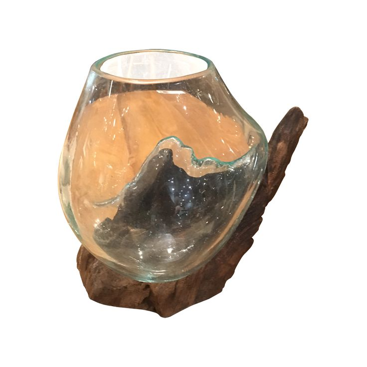 Deco-Glass+wood XS. A unique display with Glass Bowl hand blown to the shape of its Teak Wood base. Fruits bowl? Fish bowl? Pot Pouri Bowl? Terrariums anyone? Explore your unlimited creativity.