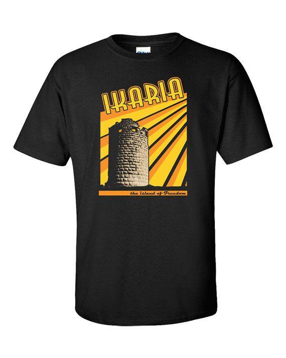 Ikaria T-Shirt Ikaros Drakano Tower Faros Icarus by 969Tshirts