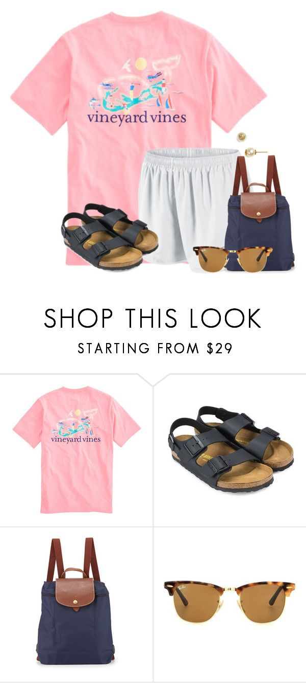 """""""Going to go see the new Pirates of the Caribbean movie"""" by flroasburn ❤ liked on Polyvore featuring NIKE, Birkenstock, Longchamp, Ray-Ban and Tory Burch"""