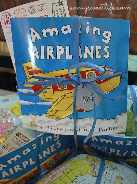 Vintage Airplane First Birthday Party | Savvy Sweet Life // party favors for boy's first birthday party with a vintage airplane theme