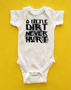 "Dirtbike/Motocross Baby Clothes ""A Little Dirt Never Hurt"""