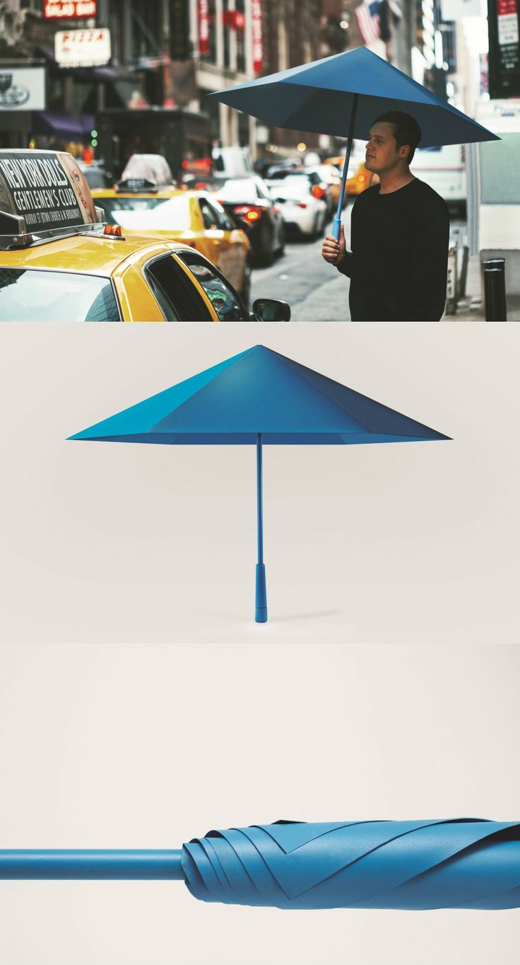 The Sa Umbrella is a highly impressive umbrella for quite a few reasons. #Umbrella #Origami #Design #YankoDesign #Rain #Outdoor