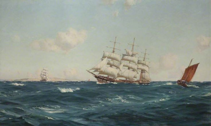Thomas Jacques Somerscales, A Strong Breeze in the Channel, 1903. UK.