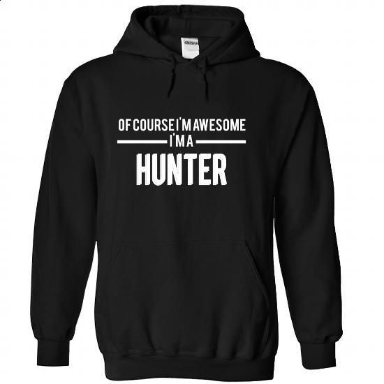 HUNTER-the-awesome - #mens dress shirts #linen shirts. GET YOURS => https://www.sunfrog.com/LifeStyle/HUNTER-the-awesome-Black-68098333-Hoodie.html?60505