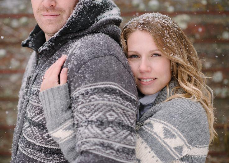Photography: Milton Photography - milton-photography.com  Read More: http://www.stylemepretty.com/canada-weddings/alberta/rural-edmonton/2013/12/30/snow-engagement-session/