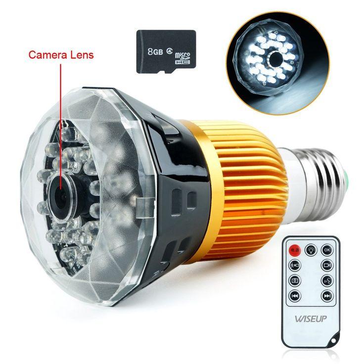 Bulb Spy Led Light Camera