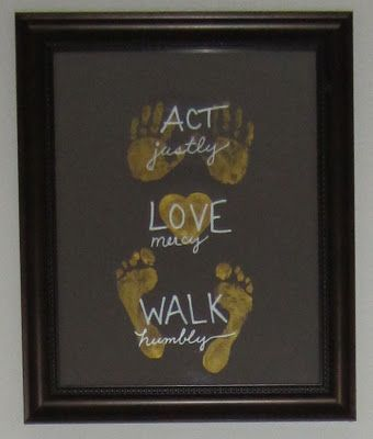 Micah 6:8The Lord, Hands Prints, Crafts Ideas, Gift Ideas, Micah 6 8, Wall Art Crafts, Baby, Kids, Walks Humble