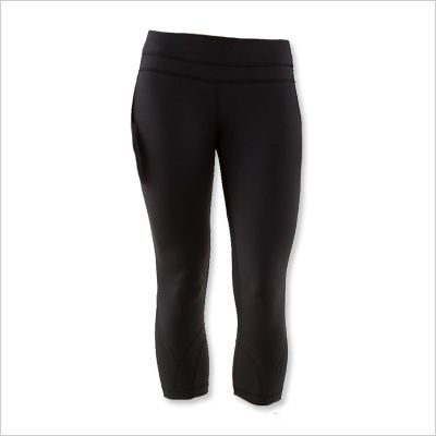 LULULEMON CROPPED RUNNING LEGGINGS: Distance running can be really challenging, so I make sure that I am as comfortable as possible when I start. These capri leggings hold everything in without feeling too snug.  $92; lululemon.com