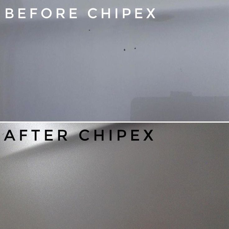 Simon freeman's before and after #Chipex photos. '3 nasty chips on my tri coat pearlescent white bonnet. Very pleased with the results .'