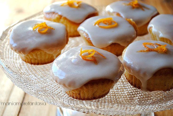 Pan d'arancio cupcake con glassa al liquore d'agrumi    orange cake   orange recipe