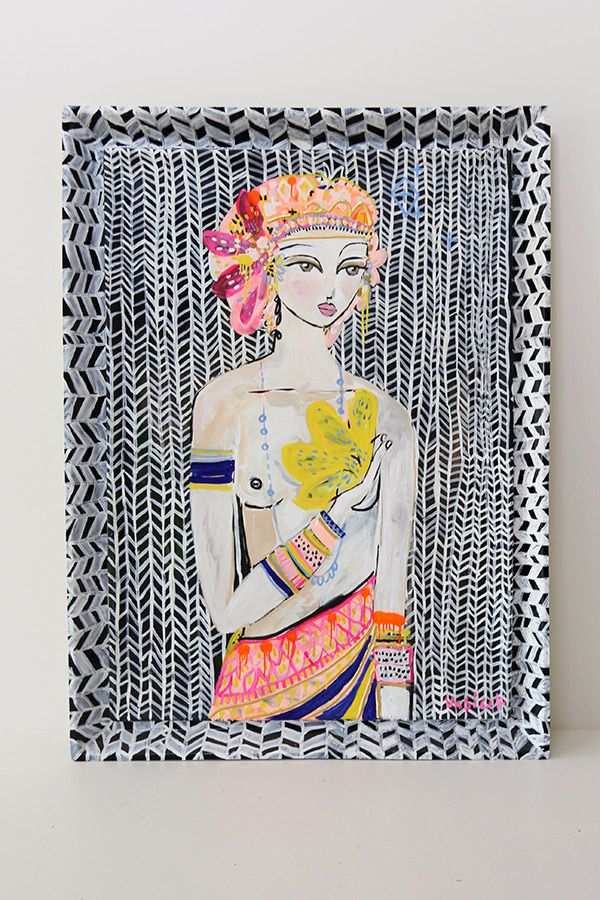 Jai Vasicek, Malachi - Anika Fleur | Jai Vasicek 'Amerilis' 2014 Handmade Fiberglass Frame as the Canvas Primed with Acrylic & Enamel