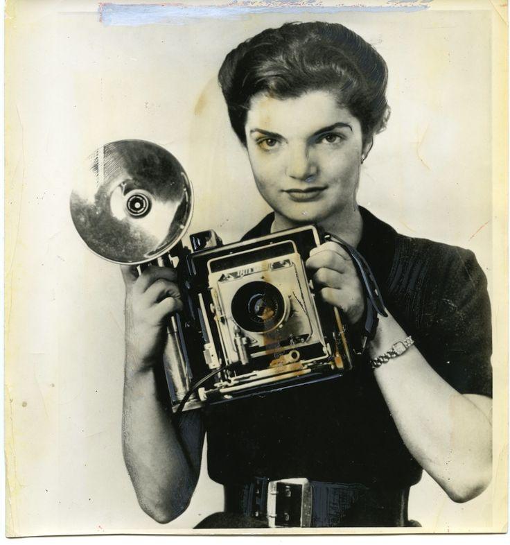 Jacqueline Kennedy w/ a Camera