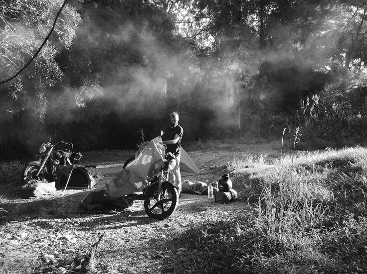 set up camp #motorcycle #motorbike #mountains #adventure