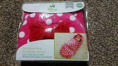 Disney Baby Minnie Mouse bath wrap, bath towel. *NEW* .. USD 10.0