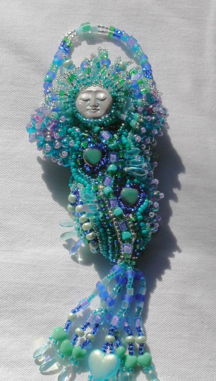 "Erika's ""Oceana"" Beaded Doll by Linda Thompson-Mills -- Northern California"