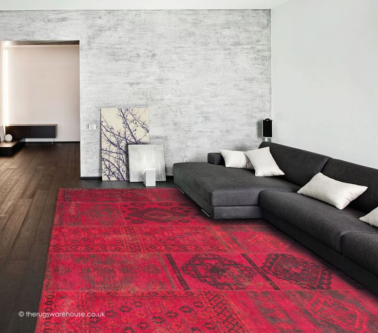 Grenada Cocktail Rug, a red, fuchsia & brown cotton chenille designer carpet from Louis de Poortere (85% cotton & 15% wool) http://www.therugswarehouse.co.uk/modern-rugs3/bohemian-rugs/grenada-cocktail-rug.html #rugs #interiors