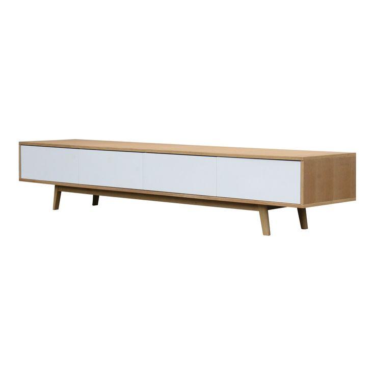 Tv dressoir vintage eiken wit Stan Bij Zen Lifestyle | Design meubelen en de laatste woontrends