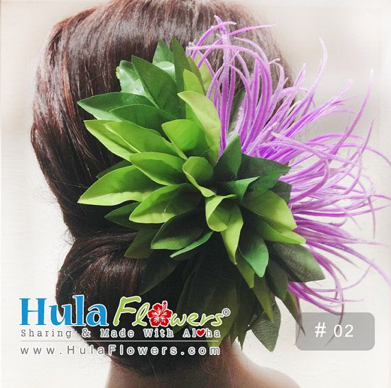 Tropical Hawaiian Flowers Hair Clip For Hula by HulaFlowers