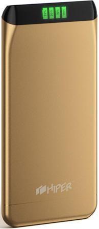 Портативное зарядное устройство HIPER SLS6300 6300мАч золотистый  — 2580 руб. —