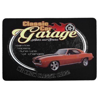 Classic Muscle Car Garage Floor Mat - classic gifts gift ideas diy custom unique