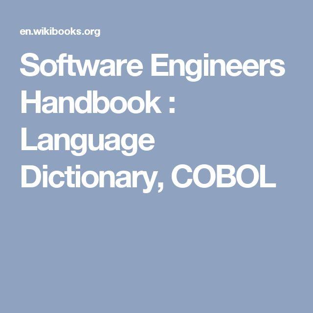 Software Engineers Handbook : Language Dictionary, COBOL