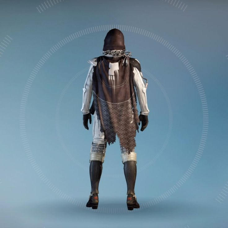 Destiny: Long Tommorow Hunter with Dead Orbit Shader and Exotic Cloak of Oblivion (Backside)