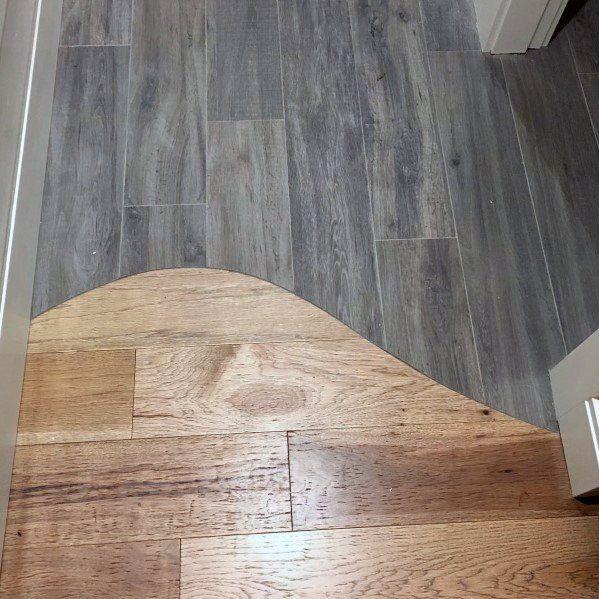 Top 70 Best Tile To Wood Floor Transition Ideas Flooring Designs Wood Tile Floors Tile To Wood Transition Floor Design