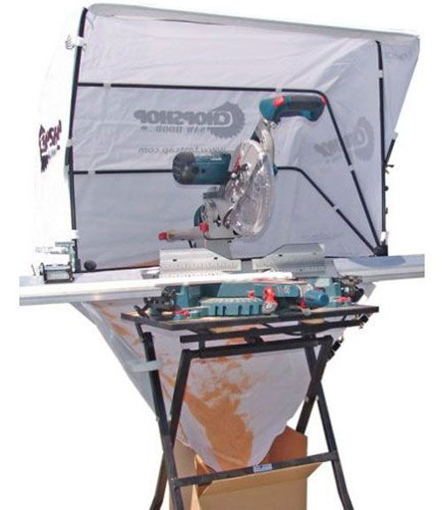 Another great dust control accessory is FastCap's ChopShop saw hood, which helps prevent miter-saw-created dust and debris from spraying all over the place. Designed for contractors working in a customer's home, the saw hoods do their job well and can be folded up and stowed for storage. The Big Gulp dust hood is an alternative that can be connected to a dust-collection system for use with a variety of power tools. - PopularMechanics.com