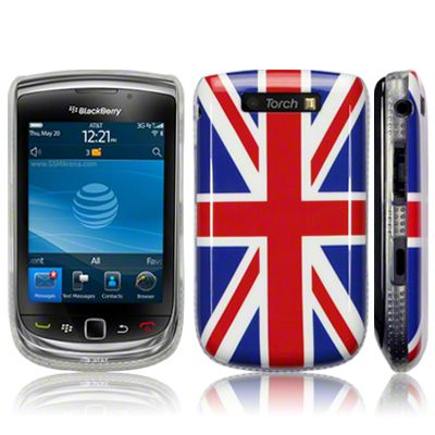 """Blackberry 9800 Torch """"Union Jack"""" Glossy Image Back Case by Terrapin - Union Jack (122-010-010)  Protect your BlackBerry torch 9800 with this custom-molded protective cover in the style of the Union Jack. This stunningly attractive case is the ultimate compliment to the classy look of your BlackBerry 9800. Its special glossy coating provides protection and slick looking finish to your device."""