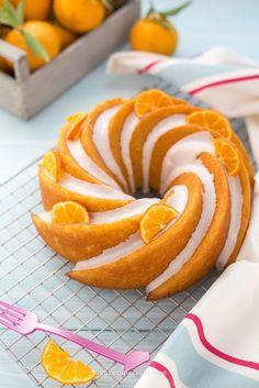 Torta soffice al mandarino (senza latte e senza burro) tangerine BUNDT CAKE heritage - Chiarapassion