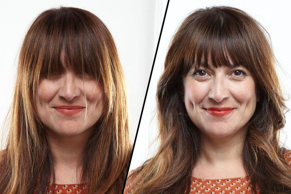 @Zinnia Amoyen is this how you cut your own bangs?!     How to Trim Bangs at Home Without Screwing Up - The Cut