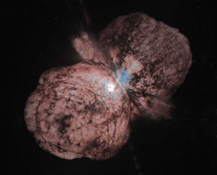 Eta Carinae may be about to explode. But no one knows when - it may be next year, it may be one million years from now. Eta Carinae's mass - about 100 times greater than our Sun - makes it an excellent candidate for a full blown supernova. Historical records do show that about 150 years ago Eta Carinae underwent an unusual outburst that made it one of the brightest stars in the southern sky.