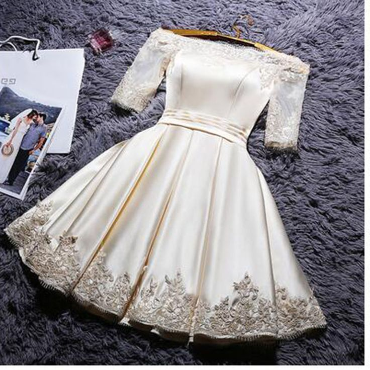 Click to order 2017 New fashion ... If you like please click the like button button http://isaledresses.com/products/2017-new-fashion-short-design-party-dress-plus-size-champagne-color-prom-dresses?utm_campaign=social_autopilot&utm_source=pin&utm_medium=pin  Global Shipping!