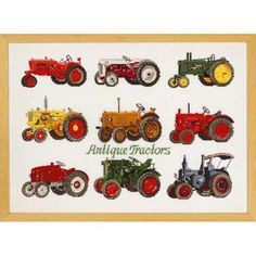 Permin® Tractors Counted Cross-Stitch Kit