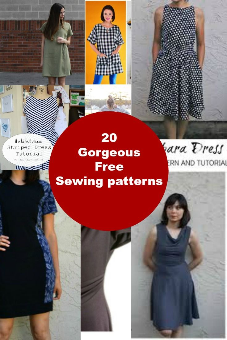 25 Gorgeous Free Sewing Patterns for Dresses: Choose among 25 gorgeous free sewing pattern for dress for women. Easy to make!