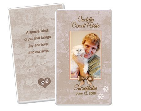 Tan Pet Memorial Flat Card Template. Edit In Microsoft Word, Publisher,  Apple IWork  Memorial Card Template Word