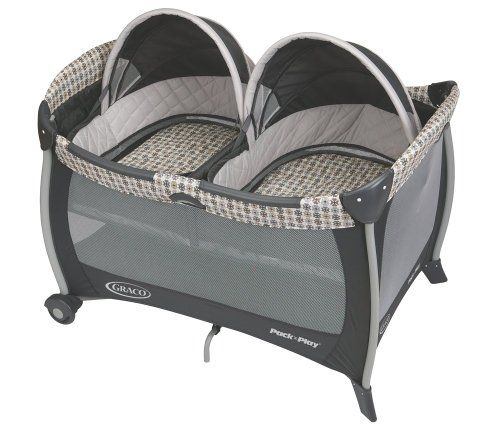 Double playpen / bassinets for twin babies. From the article: Gifts for Those Expecting Twins: http://www.squidoo.com/gifts-for-those-expecting-twins
