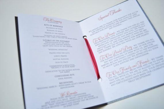 WEDDING BOOKLET PROGRAMS by JaxDesigns27 on Etsy