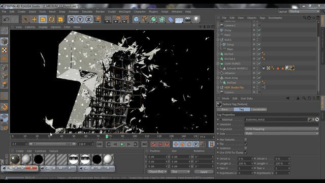 cinema 4d speed art - Z cloth explosion all render