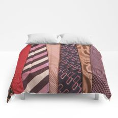 Load of Ties - Pink & Purple 2 Comforters by I Love the Quirky