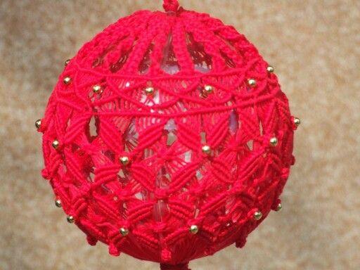 Palla natale rossa filo rbc