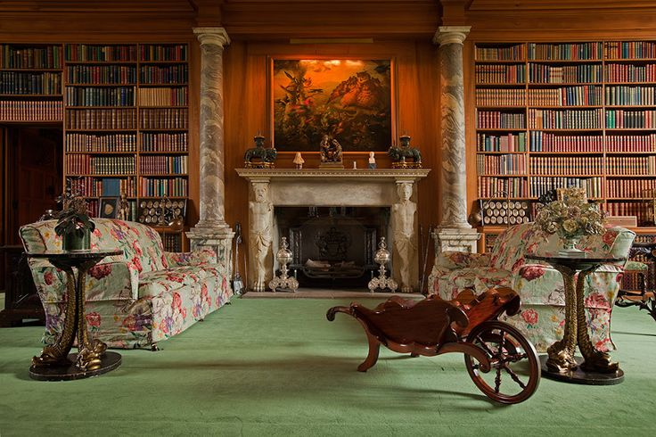 The Library, Anglesey Abbey, Cambridgeshire, UK - Architecture & Gardens Gallery