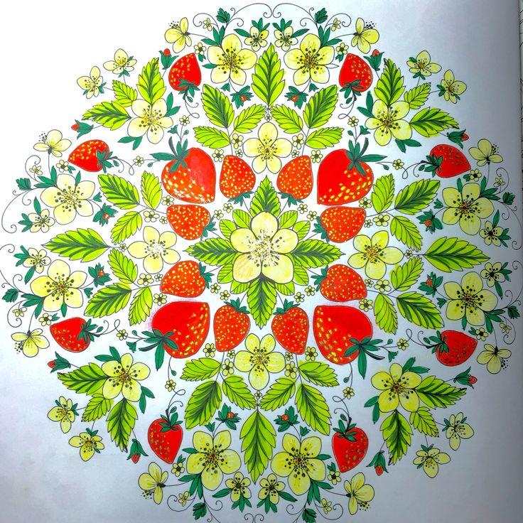 Strawberries Colored By SJ Using Sakura Gelly Roll Faber Castell Artist Pen